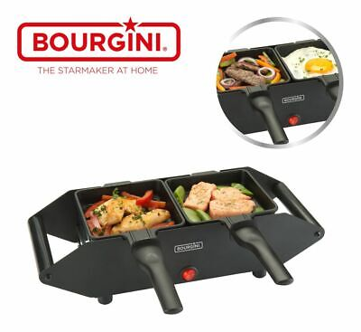 Bourgini Compact Gourmette 2p Tischgrill Raclette