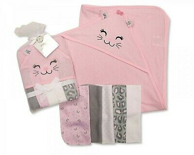 Baby Extra Soft Hooded Bath Towel and 5 Washcloths Set