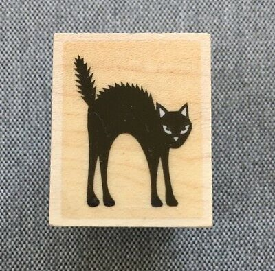 Leaping G32603 WM Cat Rubber Stamp