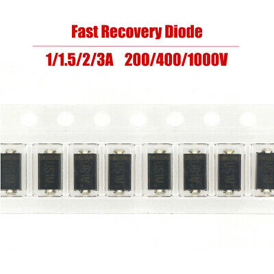 Fast Recovery Diode SMD 1/1.5/2/3A 200/400/1000V General Purpose Diode