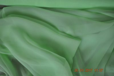 ocean sold by the meter 114 cm wide Pure silk chiffon