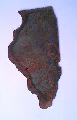 6 Inch Illinois State Shape Rough Rusty Metal Vintage Stencil Ornament Magnet