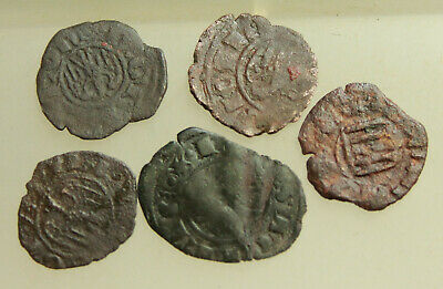 Lot of 5x AE14mm Medieval coins Italy  Sicily  Messina.