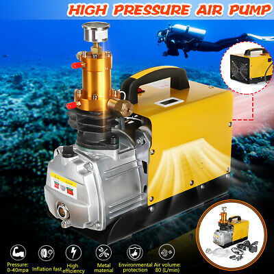 1.8KW 40MPa Stainless High Pressure Inflatable Air Pump For Auto Diving Bottle