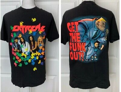 EXTREME Vintage 1991 Rock Band Concert Tour Shirt Sz Large Get The Funk Out RARE