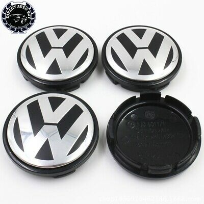 4PCS Wheel Center Caps Hub Cover Logo Emblem Badge fit Volkswagen VW 65mm Set US