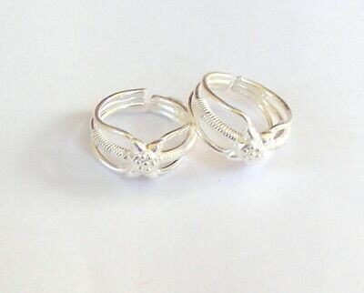 Toe Rings Handmade 925 Sterling Silver Toe Ring Pair Indian Bichiya Size Adjustable Ctp 40 Fashion Jewelry