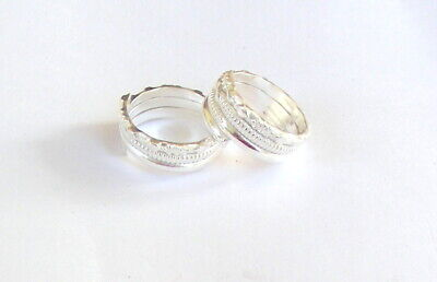 925 Sterling Silver Toe Ring Pair Indian Bichiya Pair Adjustable Free Ship Tzp21 Last Style Jewelry & Watches Toe Rings