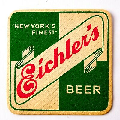 EIchler's 4 in. Beer Coaster New York City NY 1940's Brewery Advertising