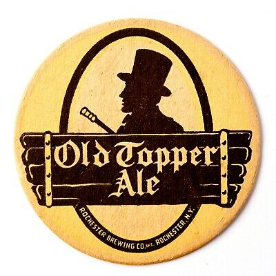 Old Topper Ale 4 in. Beer Coaster Rochester New York 1940's Brewery Advertising
