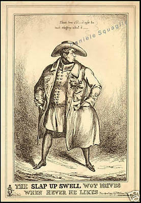 Incision Original 1800 Caricature King George IV
