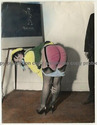 Upps - Teacher Spanked Me / BDSM (Vintage Hand Colored Photo ~1950s)