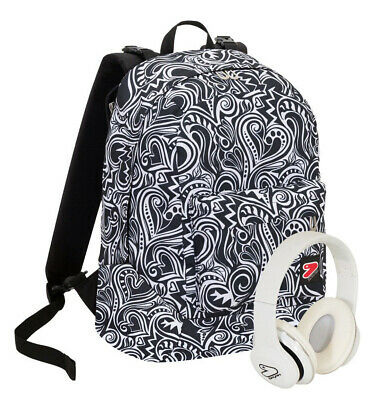 Zaino Scuola Reversibile Seven The Double White 105 Cuffie Incluse