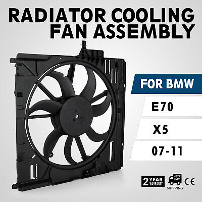 Set Radiator Cooling Motor Fan Assembly for BMW E70 X5 07-10 17428618240 Look