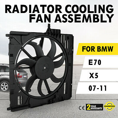 Set Engine Radiator Cooling Fan Assembly 17427598740 fitBMW E70 X5 07-10 Look