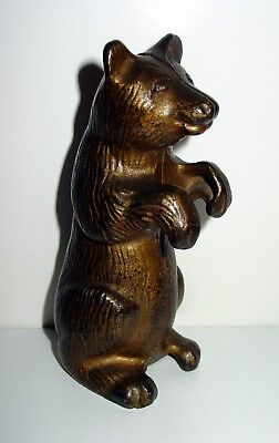 Cast Iron Begging Bear Still Bank