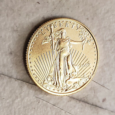 2019 1/10 oz Gold American Eagle $5 Coin Brilliant Uncirculated a