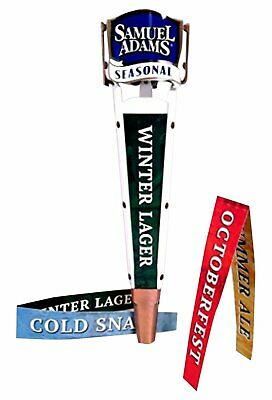 Sam Adams Seasonal Tall Beer Tap Handle 4 Insert Labels Approx 13""