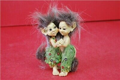 June Karlsen Troll Twins Figure Ornament Not Boxed Collectable Home Décor