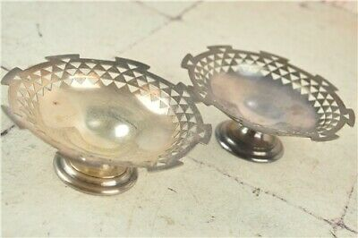 2x MAPPIN & WEBB Metal Footed Bon Bon Dishes (0.743 W28262) Collectables