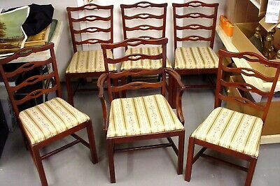 Set of 6 Tell City Antique Vintage Mahogany Dining Chairs Super HALF PRICE
