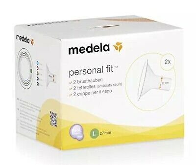 Medela PersonalFit Breast Shield x2  Large, 27 mm FREE P&P