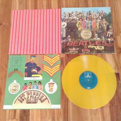 THE BEATLES *SGT PEPPER'S* SPANISH YELLOW WAX LP GATEFOLD w/INNER