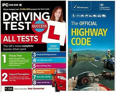 New Driving Theory Test& Hazard+Highway Code Book 2020 Latest Edition atpcH