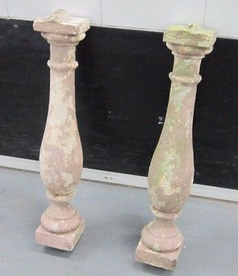 """BALLUSTERS 2 Architectural Concrete Balusters New York City Salvage 30"""" H"""