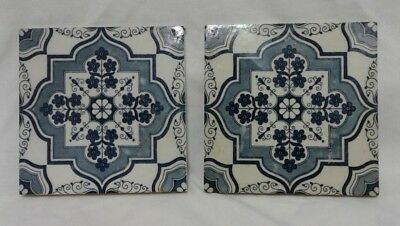 TILES 2 Minton Aesthetic Movement Decorative Tiles Blue and White