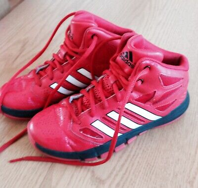 size 40 4c6b3 9c245 Boys 3 (youth) Adidas - Red ,Black And White high tops gym basketball