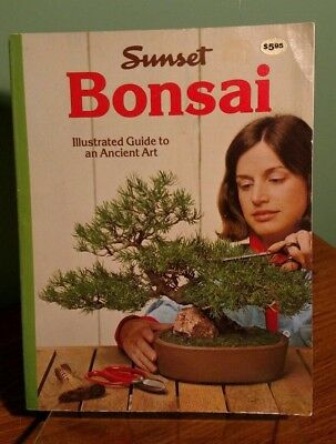 Sunset Bonsai Illustrated Guide to an Ancient Art 1976 Vintage Nice Collectible