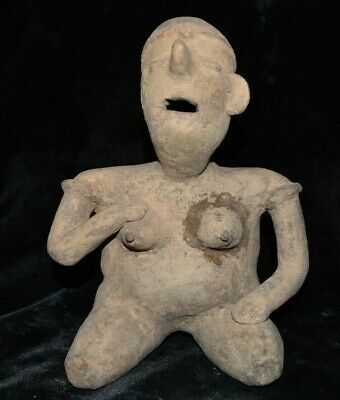 """10"""" Tall Cool Human Effigy Pre Columbian Pottery South Mexico 2000+ yrs old PC36"""