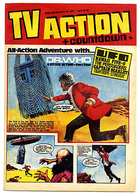 TV Action #66 (May 20, 1972) Captain Scarlet + UFO + Stingray + Dr Who strips