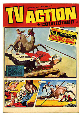 TV Action #64 (May 6, 1972) Captain Scarlet + UFO + Stingray + Dr Who strips