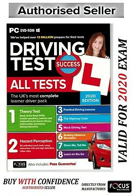 2019 Driving Theory Test Success All Tests And Hazard Perception DVD Rom NEW*Apc