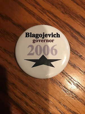 RARE Illinois Rod Blagojevich for Governor 2006 Button pinback w/ star