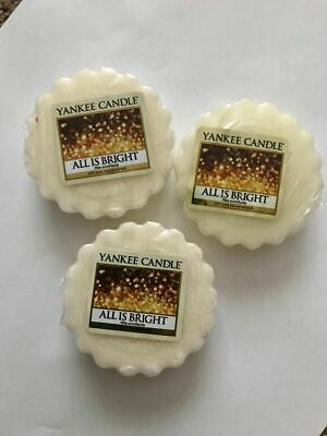 All is Bright Yankee Candle Scented Wax Tart Melt Free Postage