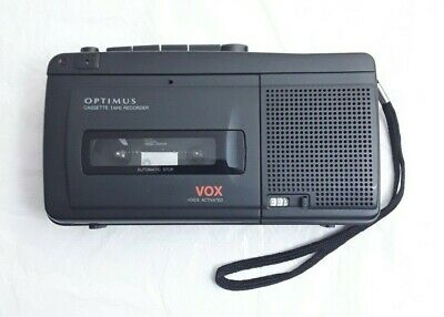 Optimus CTR-116 Cassette Tape Player / Recorder Voice Activated Dictaphone