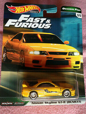 2019 HOT WHEELS Car Culture FAST & FURIOUS NISSAN SKYLINE GT-R (BCNR33)