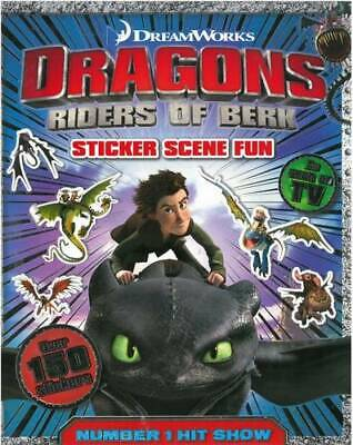 How to Train Your Dragon: Sticker Scenes Book, Igloobooks, New Book