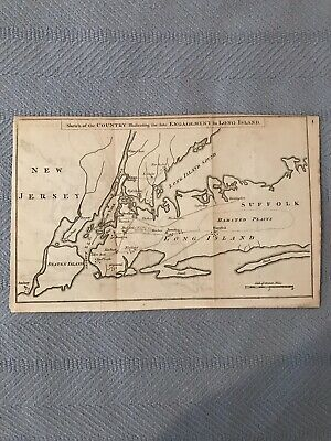 Map Of New York 1776.Antique New York City Map 1776 Gentlemens Magazine
