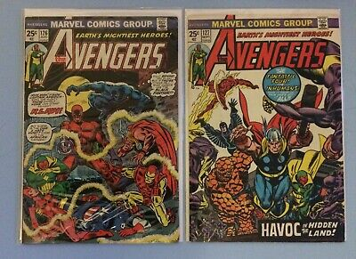 The Avengers # 126 and 127 Marvel Comics 1974 Bronze Age Dollar Price