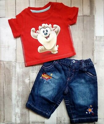 Baby boys 0-3 months looney tunes taz t-shirt & jeans