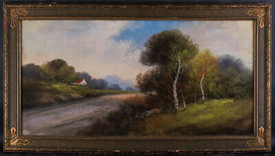"""Large Realist/Traditional American Pastel On Paper """"Rural Path Landscape"""""""