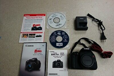 Canon EOS Rebel T6I 24.2MP Digital SLR Camera - Black - Body Only W/ Charger