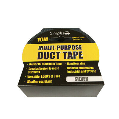 Multi Purpose Duct Tape - Silver 10M WORKSHOPPLUS FREE DELIVERY