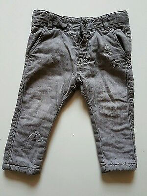 Vertbaudet Grey Boys Age 6 Months Chino Style Jeans