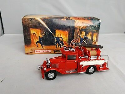 Matchbox Models Of Yesteryear  1932 Ford Aa Fire Engine./Boxed