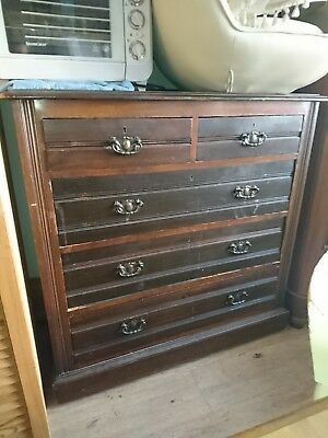 Large Victorian/Edwardian mahogany Chest Of Drawers dresser Brass Handles